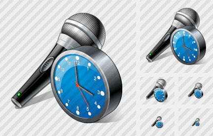 Microphone Clock Icon