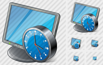 Icone Monitor Clock