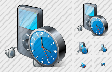 MP3 Player Clock Icon