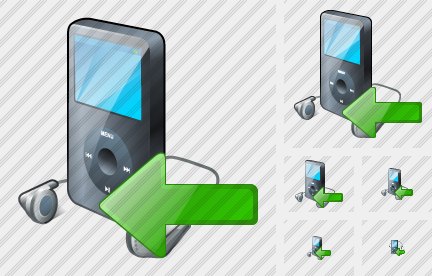 MP3 Player Import Icon