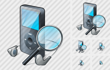 MP3 Player Search 2 Icon