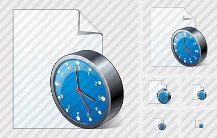 Icone New Document Clock