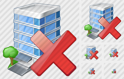 Office Building Delete Icon