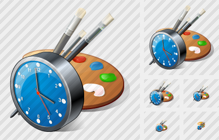 Palette Clock Icon