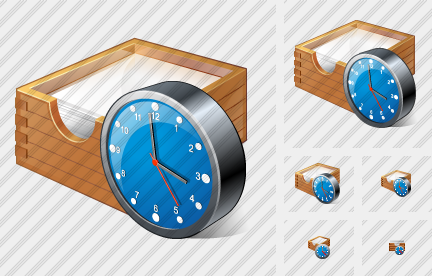 Icone Paper Box Clock