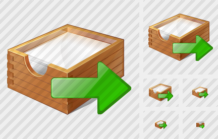 Icone Paper Box Export
