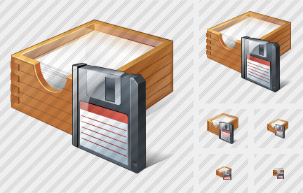 Paper Box Save Icon