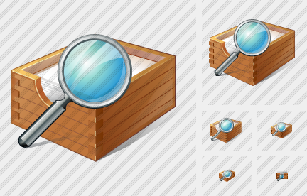 Paper Box Search Icon