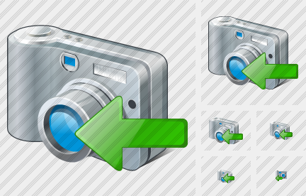 Photocamera Import Icon