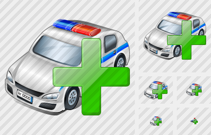 Police Car Add Icon