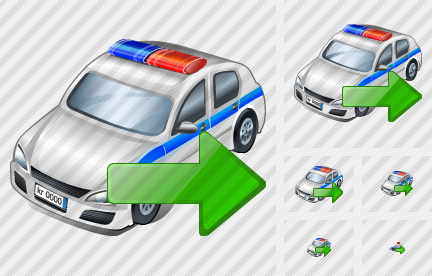 Police Car Export Icon