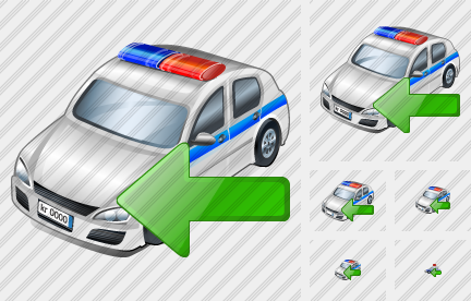 Police Car Import Icon