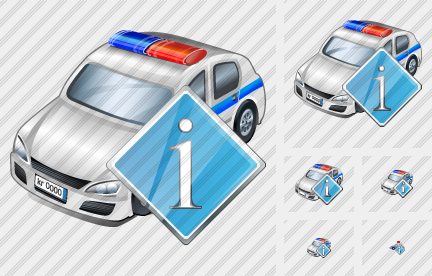 Icone Police Car Info