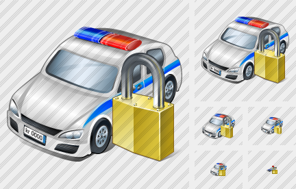 Police Car Locked Icon