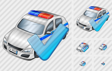 Police Car Ok Icon