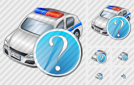 Police Car Question Icon