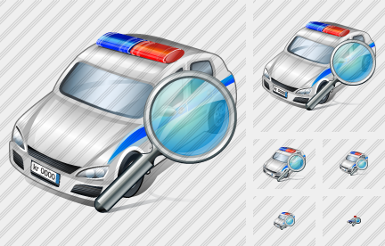 Police Car Search Icon