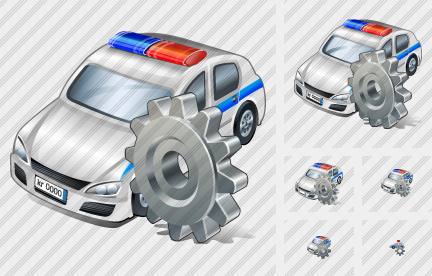 Police Car Settings Icon
