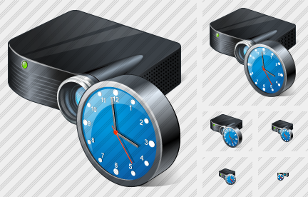 Icone Projector Black Clock