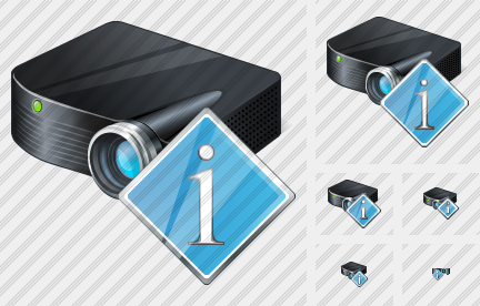 Icone Projector Black Info