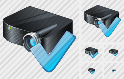 Icone Projector Black OK