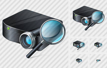 Icone Projector Black Search2