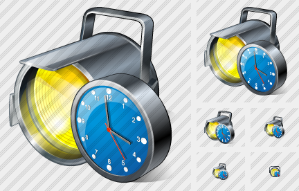 Projector Clock Icon
