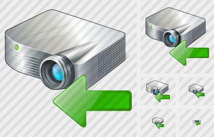 Projector White Import Icon