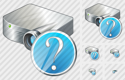 Projector White Question Icon