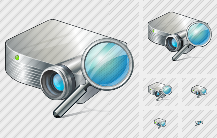 Projector White Search Icon