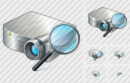 Projector White Search 2 Icon