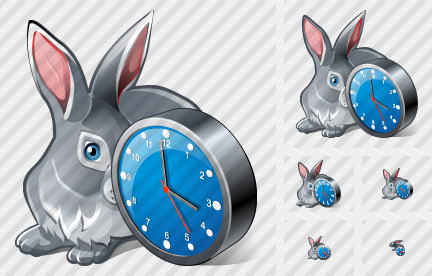 Icone Rabbit Clock