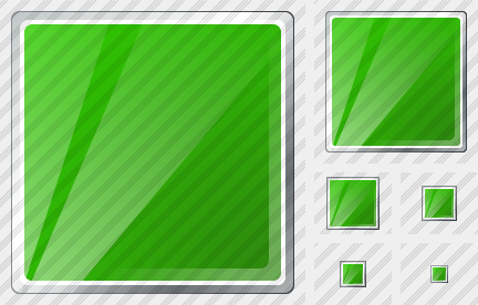 Icone Rectangle Green
