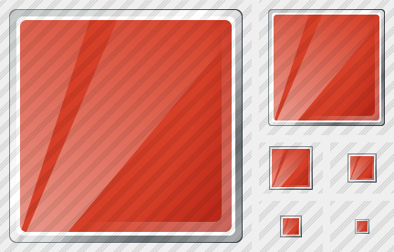 Rectangle Red Icon