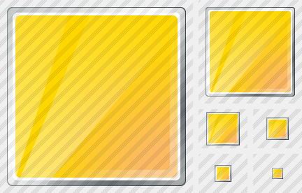 Rectangle Yellow Icon