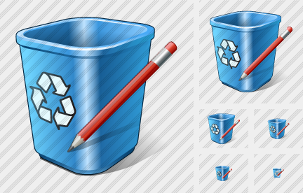 Recycle Bin Edit Icon