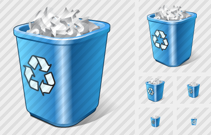 Icone Recycle Bin Full