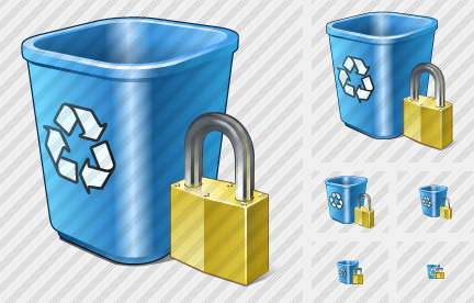 Recycle Bin Locked Icon