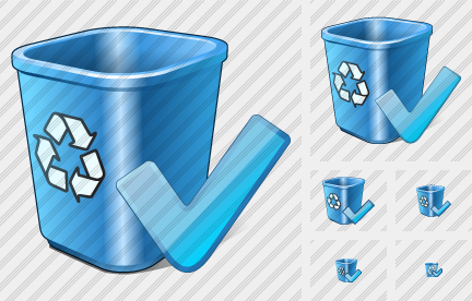 Recycle Bin Ok Icon