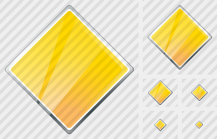 Icone Rhombus Yellow