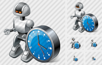 Icone Robot Clock