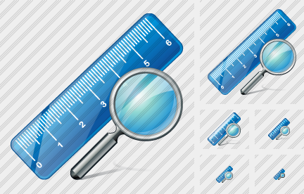 Ruler Search Icon