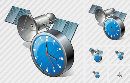 Icone Satellite Clock