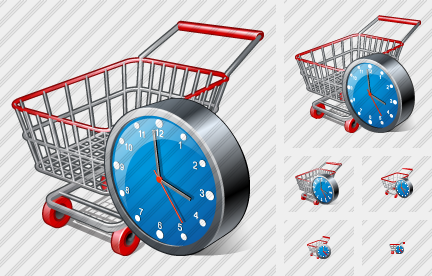 Shopping Clock Icon