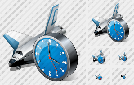 Shuttle Clock Icon