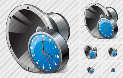 Speaker Clock Icon