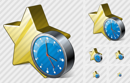 Star Clock Icon