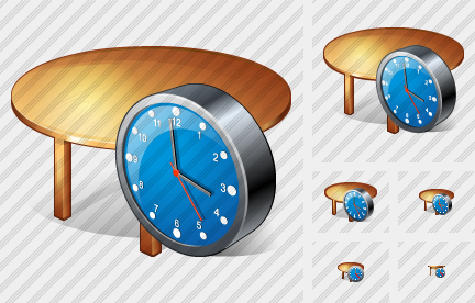 Icone Table Clock
