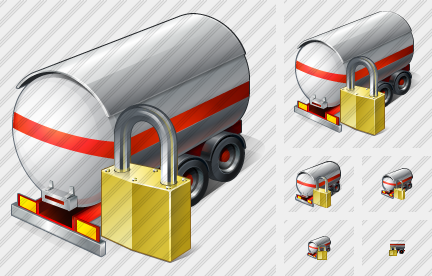 Tank Truck Locked Icon