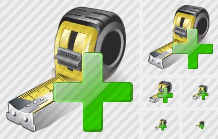 Tape Measure Add Icon